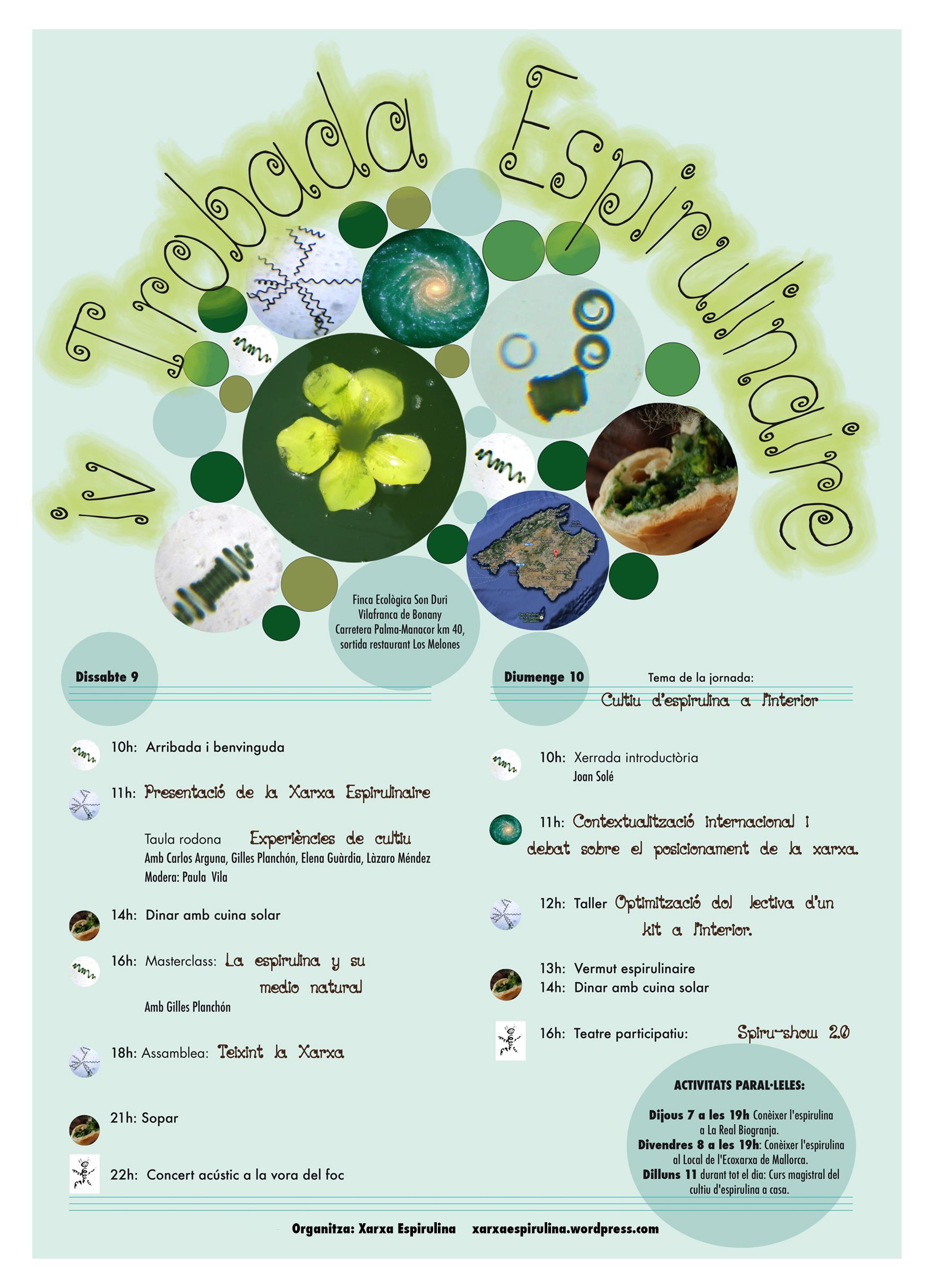 IV Trobada Espirulinaire a Mallorca (dels 6 al 10 de novembre)
